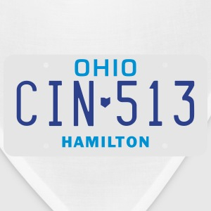 Retro Cincinnati Ohio CIN-513 license plate  - Bandana