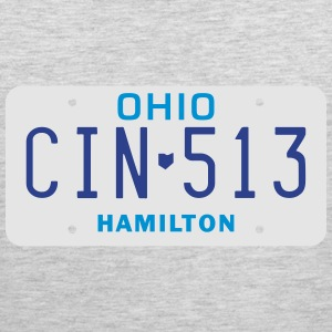 Retro Cincinnati Ohio CIN-513 license plate  - Men's Premium Tank