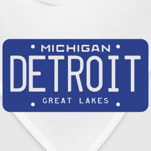 Retro Detroit Michigan License Plate T-Shirt - Bandana