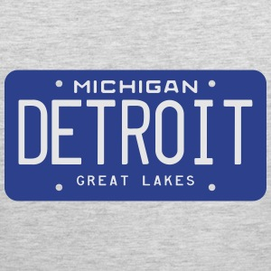 Retro Detroit Michigan License Plate T-Shirt - Men's Premium Tank