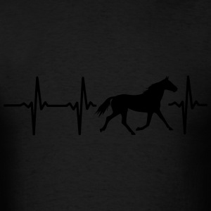 I LOVE HORSES! MY HEART BEATS FOR HORSES! Bags & backpacks - Men's T-Shirt