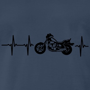 MY HEART BEATS FOR MY MOTORCYCLE! Tanks - Men's Premium T-Shirt