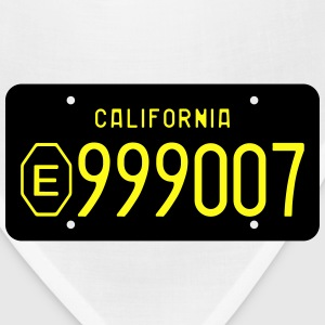Retro 1960s California Exempt License Plate T-shir - Bandana