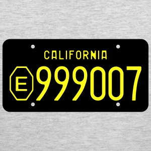 Retro 1960s California Exempt License Plate T-shir - Men's Premium Tank