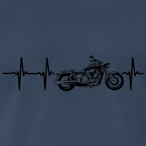 MY HEART BEATS FOR MY MOTORCYCLE Sportswear - Men's Premium T-Shirt
