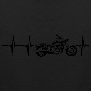 MY HEART BEATS FOR MY MOTORCYCLE Women's T-Shirts - Men's Premium Tank