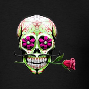 Mexican skull and rose - Men's T-Shirt