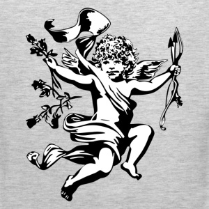 Angel cupid with bow design T-Shirts - Men's Premium Tank