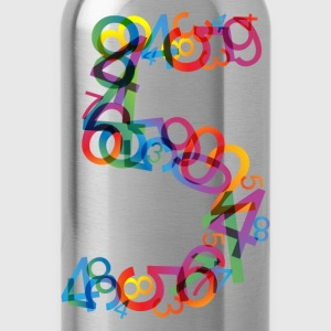 Rainbow colors number - Water Bottle