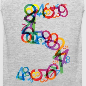 Rainbow colors number - Men's Premium Tank