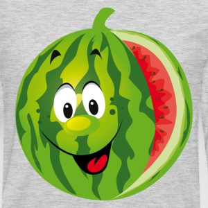 Cartoon watermelon fruit smiling - Men's Premium Long Sleeve T-Shirt