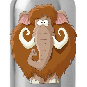 Amusing cartoon mammoth - Water Bottle