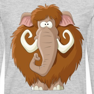 Amusing cartoon mammoth - Men's Premium Long Sleeve T-Shirt