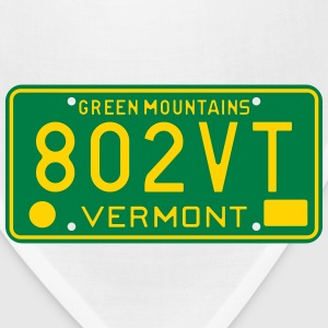 Retro Vermont License Plate 802VT T-Shirts - Bandana