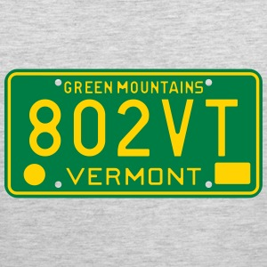 Retro Vermont License Plate 802VT T-Shirts - Men's Premium Tank