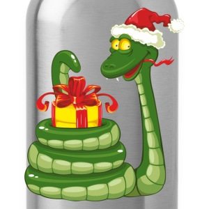 Snake Christmas design graphics T-Shirts - Water Bottle