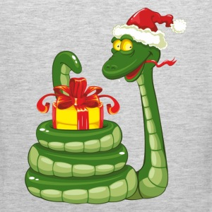 Snake Christmas design graphics T-Shirts - Men's Premium Tank