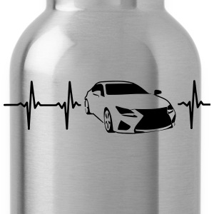 MY HEART BEATS FOR SPORTSCARS! Long Sleeve Shirts - Water Bottle