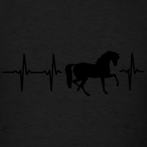 MY HEART BEATS FOR HORSES! Tanks - Men's T-Shirt