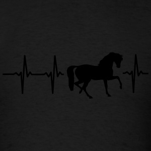 MY HEART BEATS FOR HORSES! Long Sleeve Shirts - Men's T-Shirt