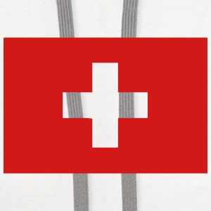 swiss flag switzerland T-Shirts - Contrast Hoodie