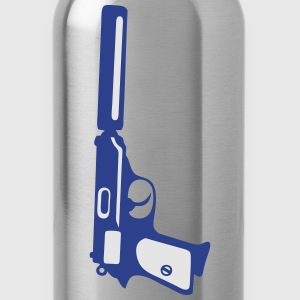 silent revolver gun Kids' Shirts - Water Bottle