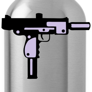 uzi gun pistol revolver 912 T-Shirts - Water Bottle
