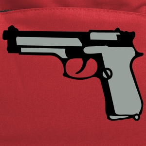 automatic pistol gun revolver 912 T-Shirts - Computer Backpack