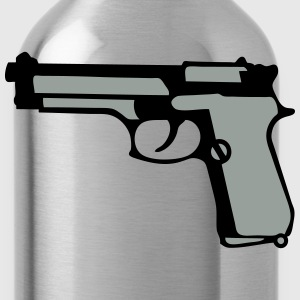 automatic pistol gun revolver 912 T-Shirts - Water Bottle