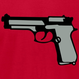 automatic pistol gun revolver 912 Long Sleeve Shirts - Men's T-Shirt by American Apparel