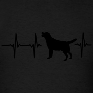 MY HEART BEATS FOR DOGS! I LOVE MY DOG! Long Sleeve Shirts - Men's T-Shirt