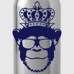 monkey king crown logo front head 910 T-Shirts - Water Bottle
