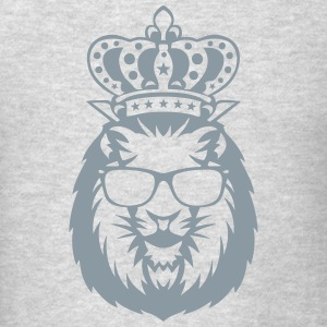 king crowned lion head logo face 910 Long Sleeve Shirts - Men's T-Shirt