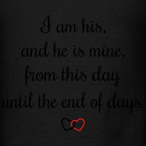 Romantic oath I am his Bags & backpacks - Men's T-Shirt