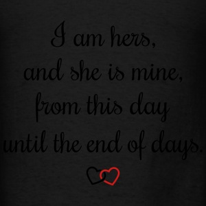 Romantic oath I am hers Bags & backpacks - Men's T-Shirt
