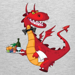 Lovely dragon cartoon chef T-Shirts - Men's Premium Tank