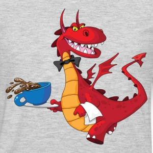 Lovely dragon cartoon chef T-Shirts - Men's Premium Long Sleeve T-Shirt