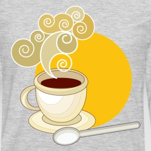 Coffee cup and saucer - Men's Premium Long Sleeve T-Shirt