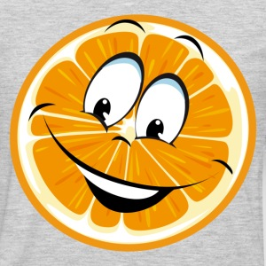 Funny orange cartoon expression T-Shirts - Men's Premium Long Sleeve T-Shirt