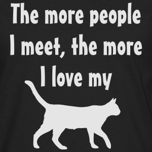 I love my cat womens - Men's Premium Long Sleeve T-Shirt