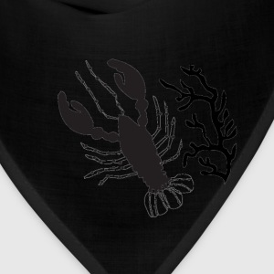 Lobster with coral - Bandana