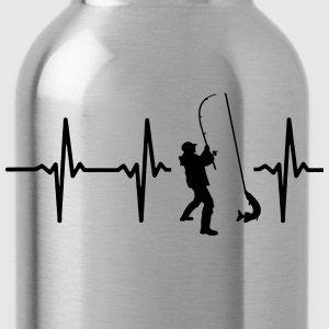 MY HEART BEATS FOR FISHING! T-Shirts - Water Bottle