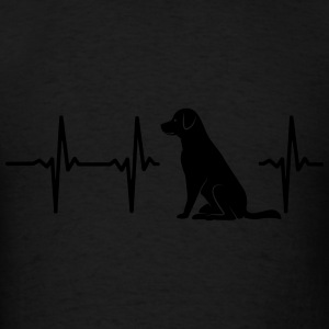 MY HEART BEATS FOR DOGS Hoodies - Men's T-Shirt