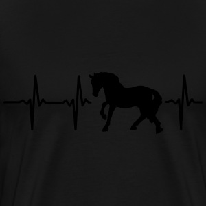 I LOVE HORSES! MY HEART BEATS FOR HORSES! Hoodies - Men's Premium T-Shirt