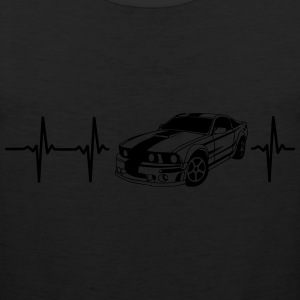 MY HEART BEATS FOR MUSCLE CARS! Long Sleeve Shirts - Men's Premium Tank