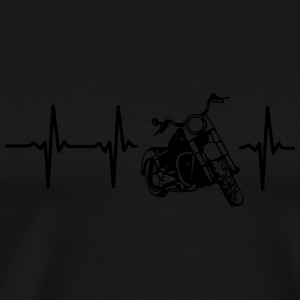 MY HEART BEATS FOR MY MOTORCYCLE Caps - Men's Premium T-Shirt