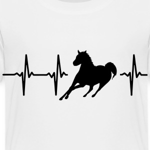 MY HEART BEATS FOR HORSES Kids' Shirts - Toddler Premium T-Shirt