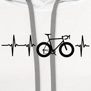 I LOVE MY BICYCLE! MY HEART BEATS FOR MY BIKE! Polo Shirts - Contrast Hoodie