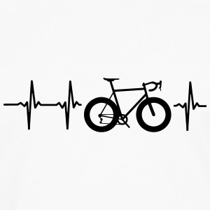 I LOVE MY BICYCLE! MY HEART BEATS FOR MY BIKE! Polo Shirts - Men's Premium Long Sleeve T-Shirt
