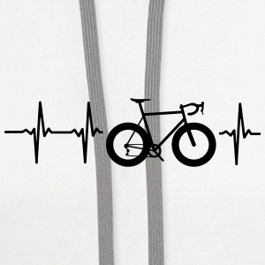 I LOVE MY BICYCLE! MY HEART BEATS FOR MY BIKE! Caps - Contrast Hoodie